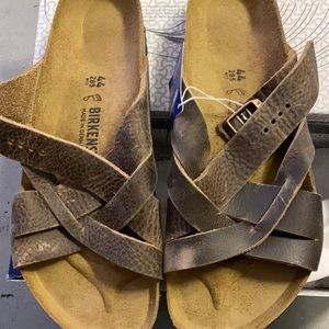 Birkenstock Lugano tobacco brown asst M new